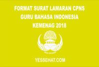 Contoh Surat Lamaran CPNS Guru Bahasa Indonesia