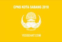 CPNS Sabang 2018