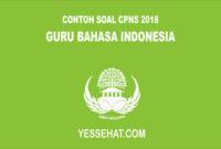 Contoh Soal CPNS Guru Bahasa Indonesia 2018 dan Jawabannya