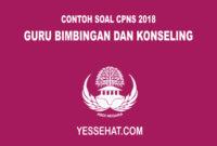 Contoh Soal CPNS Guru Bimbingan dan Konseling