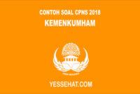 Contoh Soal CPNS CAT SKD SKB Kemenkumham 2018