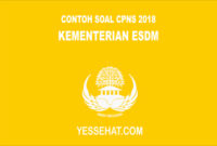 Contoh Soal CPNS CAT SKD SKB Kementerian ESDM 2018