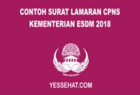 Contoh Surat Lamaran CPNS Kementerian ESDM