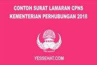 Contoh Surat Lamaran CPNS Kementerian Perhubungan