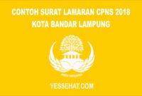 Contoh Surat Lamaran CPNS Kota Bandar Lampung