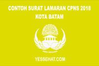 Contoh Surat Lamaran CPNS Kota Batam