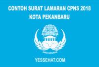 Contoh Surat Lamaran CPNS Kota Pekanbaru