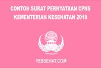 Contoh Surat Pernyataan CPNS Kementerian Kesehatan
