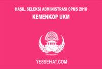 Hasil Seleksi Administrasi CPNS Kemenkop UKM 2018