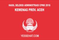 Hasil Seleksi Administrasi CPNS Kementerian Agama Provinsi Aceh 2018