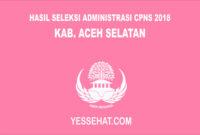 Pengumuman Hasil Seleksi Administrasi CPNS Aceh Selatan 2018