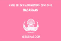 Pengumuman Hasil Seleksi Administrasi CPNS BASARNAS 2018