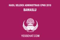 Pengumuman Hasil Seleksi Administrasi CPNS BAWASLU 2018