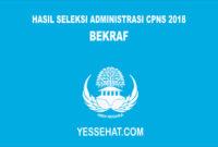 Pengumuman Hasil Seleksi Administrasi CPNS BEKRAF 2018