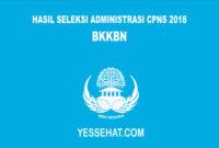 Pengumuman Hasil Seleksi Administrasi CPNS BKKBN 2018