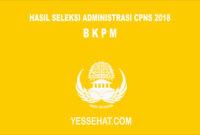 Pengumuman Hasil Seleksi Administrasi CPNS BKPM 2018