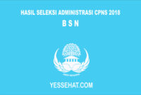 Pengumuman Hasil Seleksi Administrasi CPNS BSN 2018