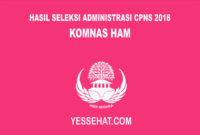 Pengumuman Hasil Seleksi Administrasi CPNS KOMNAS HAM 2018