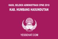 Hasil Seleksi Administrasi CPNS Humbang Hasundutan 2018