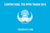 Contoh Soal Tes PPPK 2019 Beserta Jawabannya
