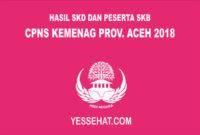 Hasil SKD dan Peserta SKB CPNS Kementerian Agama Provinsi Aceh 2018
