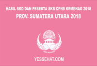 Hasil SKD dan Peserta SKB CPNS Kemenag Sumatera Utara 2018