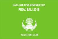 Pengumuman Hasil SKD CPNS Kemenag Bali 2018