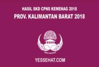 Pengumuman Hasil SKD CPNS Kemenag Kalimantan Barat 2018
