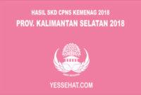 Pengumuman Hasil SKD CPNS Kemenag Kalimantan Selatan 2018