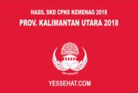 Pengumuman Hasil SKD CPNS Kemenag Kalimantan Utara 2018