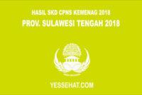 Pengumuman Hasil SKD CPNS Kemenag Sulawesi Tengah 2018
