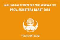 Pengumuman Hasil SKD CPNS Kemenag Sumatera Barat 2018