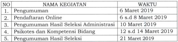 Jadwal Kegiatan Seleksi SDM Pelaksana PKH Tahun 2019
