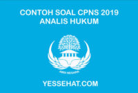 Contoh Soal CPNS Analis Hukum dan Jawabannya 2019