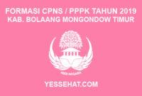 CPNS / PPPK / P3K Kabupaten Bolaang Mongondow Timur 2019