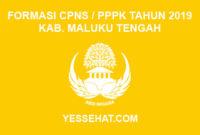 Formasi CPNS / PPPK / P3K Kabupaten Maluku Tengah 2019