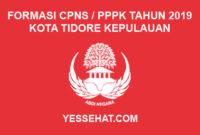 Formasi CPNS / PPPK / P3K Kota Tidore Kepulauan 2019